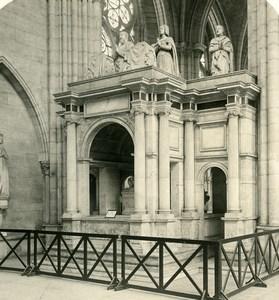 France Paris Basilica of St Denis Tomb Francois I Old NPG Stereoview Photo 1900