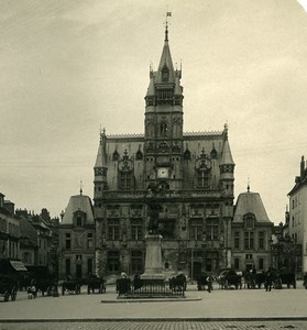 France Compiegne City Hall Architecture Old NPG Stereoview Photo 1900