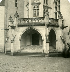France Pierrefonds Chateau bas de la Tourelle Ancienne Photo Stereo NPG 1900