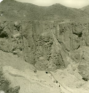 Egypt Luksor Louxor Valley of the Kings Old NPG Stereoview Photo 1900