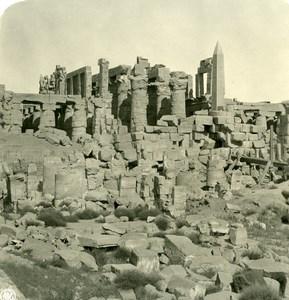 Egypt Luksor Luxor Louxor Karnak Temple Old NPG Stereoview Photo 1900