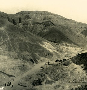 Egypt Luxor Thebes Entry of Valley of the Kings Old NPG Stereoview Photo 1900