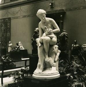 Belgium Brussels Sculpture Museum Geefs Love & Malice NPG Stereoview Photo 1900
