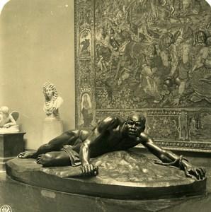 Belgium Brussels Sculpture Museum Van Hove Vengeance NPG Stereoview Photo 1900
