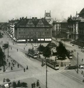 Germany Munich München Karlstor Tramway Old Photo Stereoview NPG 1900