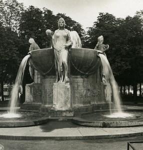 Germany Munich Nornenbrunnen Fountain Old Photo Stereoview NPG 1907