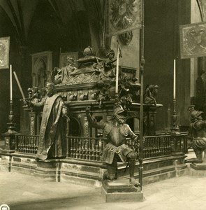 Germany Munich Frauenkirche Cathedral Tomb Old Photo Stereoview NPG 1900