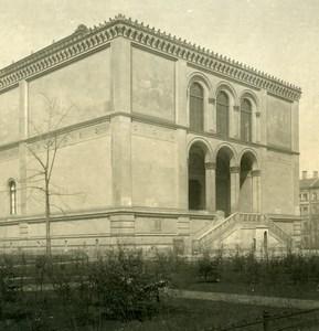 Allemagne Munich Neue Pinakothek München Ancienne Photo Stereo NPG 1900