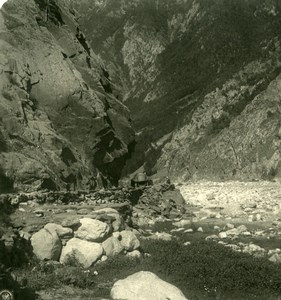 Caucasus Mountain Darial Gorge ??????????? ?????? Old Photo Stereoview NPG 1906