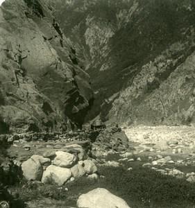 Caucase Georgie Passe de Darial Gorges de Darian ??????????? ?????? Ancienne Photo Stereo NPG 1906