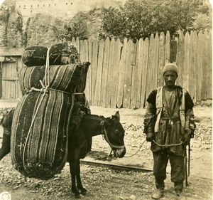 Caucasus Georgia Tiflis Coal Merchant Tbilisi Old Photo Stereoview NPG 1906