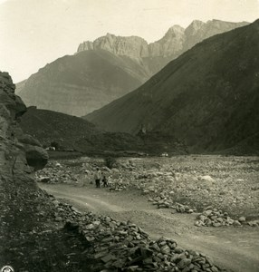 Caucasus Mountain Georgian Military Road Old Photo Stereoview NPG 1906