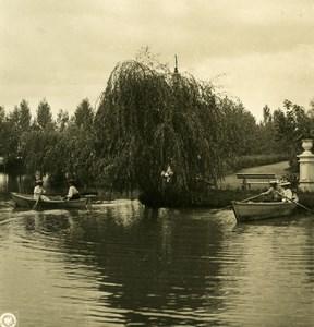 Caucase Transcaucasie Vladikavkaz jardin public Russie Terek Ancienne Photo Stereo NPG 1906