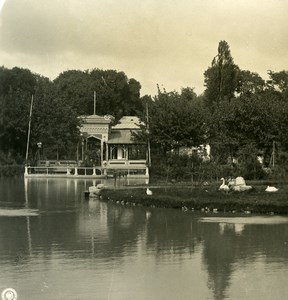 Caucasus Russia Vladikavkaz public garden Terek Old Photo Stereoview NPG 1906