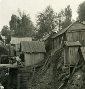 Russie Volga Tzaritzin Maisons des Choleriques Cholera Ancienne Photo Stereo NPG 1906