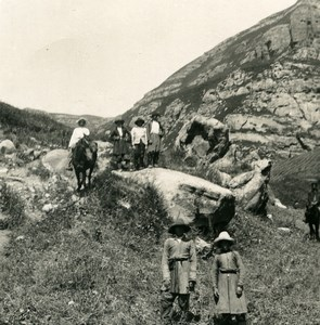 Caucasus Mountain Pyatigorsk Climbing Urlesz ????????? Photo Stereoview NPG 1906