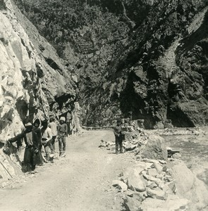 Caucasus Door Mountain Georgian Military Road Old Photo Stereoview NPG 1906