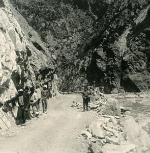 Caucase Transcaucasie Route militaire de Georgie Porte du Caucase Ancienne Photo Stereo NPG 1906