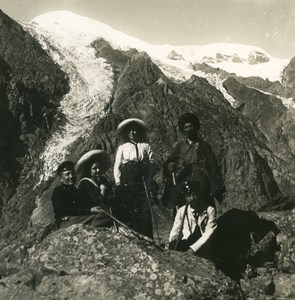 Caucasus Mountain Georgia Dewdorak Glacier Old Photo Stereoview NPG 1906