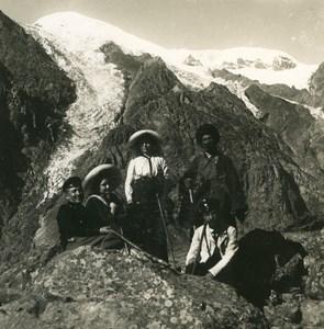 Caucase Transcaucasie Route militaire de Georgie Glacier de Dewdorak Ancienne Photo Stereo NPG 1906