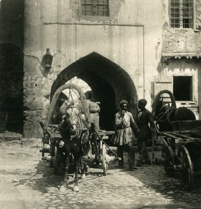 Caucasus Azerbaijan Baku Persian Bazar Baki Old Photo Stereoview NPG 1906
