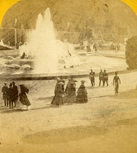France Versailles Castle Grandes Eaux Paris Instantané Old Photo Stereoview 1860