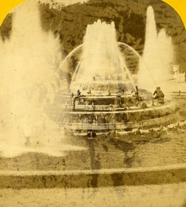 France Versailles Castle Grandes Eaux Old Paris Instantané Photo Stereoview 1860