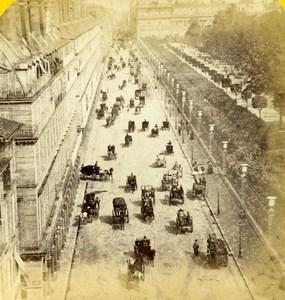 France Paris Busy Rue de Rivoli Old Hippolyte Jouvin Photo Stereoview 1860