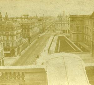 France Paris Rue de Rivoli Street Old Photo Stereoview 1860
