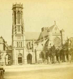 France Paris Church St Germain l Auxerrois Old Photo Stereoview 1860