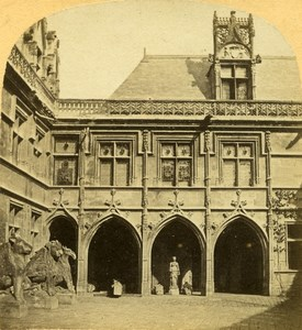 France Paris Musée de Cluny Museum Old Photo Stereoview 1858