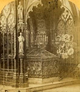France Paris Eglise Saint Etienne du Mont Church Tomb Old Photo Stereoview 1860