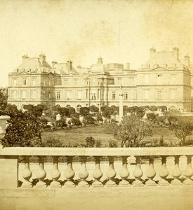 France Paris Jardins et Palais du Luxembourg Ancienne Photo Stereo 1870