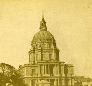 France Paris Dome des Invalides Old Photo Stereoview 1860