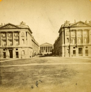 France Paris Street Royale Old Léon & Lévy Photo Stereoview 1880