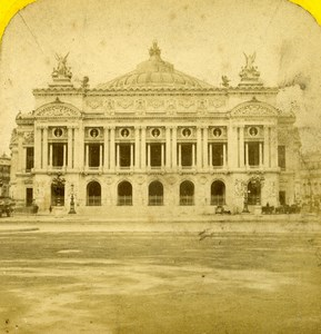 France Paris Opera Facade Old Hautecoeur Photo Stereoview 1870