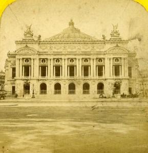 France Paris Opera Facade Old Hautecoeur Photo Stereoview 1870