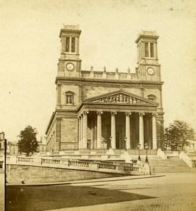 Paris Saint Vincent de Paul Church Old Vibien Golvin Photo Stereoview 1860