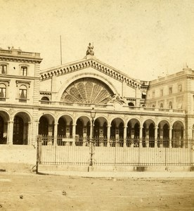 France Paris Railway Station Gare de l'Est Old Photo Stereoview 1870