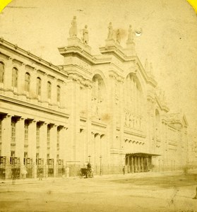 France Paris Railway Station Gare du Nord Old Hautecoeur Photo Stereoview 1870