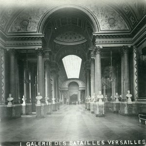 France Paris Versailles Castle Galerie des Batailles Old Stereoview Photo 1900