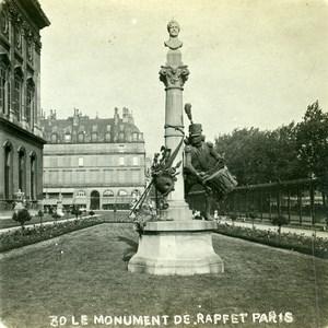 France Paris Raffet Monument Jardin du Louvre Old Photo Stereoview 1900