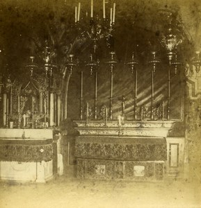 Israel Palestine Jerusalem Church of Holy Sepulchre Old Photo Stereoview 1875