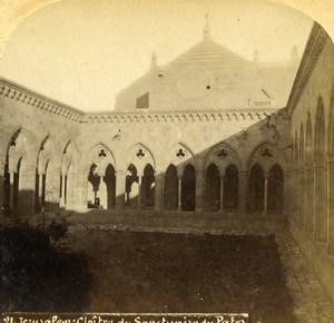Israel Palestine Jerusalem Cloister Sanctuary Pater Noster Photo Stereoview 1875