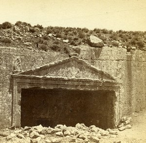 Israel Palestine Jerusalem Tombs of the Judges Old Photo Stereoview Bonfils 1875