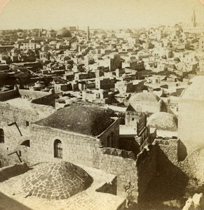 Israel Palestine Jerusalem City of Zion Photo Stereoview Underwood Jarvis 1896