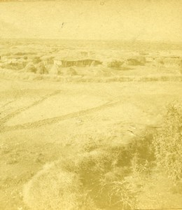 Palestine West Bank Jericho Panorama Old Photo Stereoview 1880