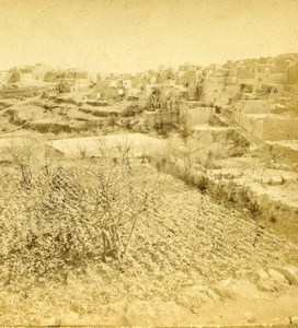 Palestine West Bank Bethlehem General View Old Photo Stereoview 1880
