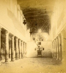 Palestine West Bank Bethlehem Church of the Nativity Old Photo Stereoview 1880