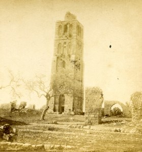 Israel Ramla White Mosque Tower of 40 Martyrs Minaret Old Photo Stereoview 1875